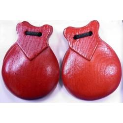 Castañuela básica roja medida nº 6