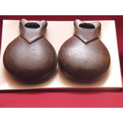 Castañuela semi profesional lacado marrón medida nº 6